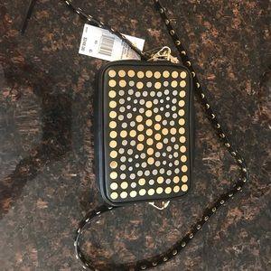 NWT MK Jenkins Stud black leather purse